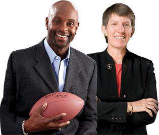 Jerry Rice and Becky Halstead Support