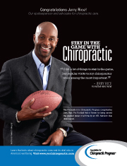 NFL Hall of Famer Jerry Rice Supports Chiropractic